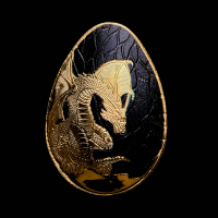 Palau $1 Dragon Concave Egg Shaped Gold Coin at PristineAuction.com