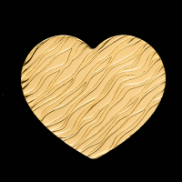 Palau $1 Heart Shaped Gold Coin at PristineAuction.com