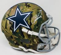 CeeDee Lamb Signed Cowboys Full-Size Camo Speed Helmet (Fanatics Hologram) at PristineAuction.com