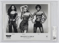 Beyonce Knowles, Kelly Rowland & Michelle Williams Signed  8x10 Photo (Beckett Authentic) at PristineAuction.com