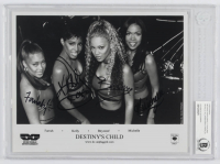 """""""Destiny's Child"""" 8x10 Photo Signed by (4) with Beyonce Knowles, Kelly Rowland, Michelle Williams & Farrah Franklin (Beckett Authentic) at PristineAuction.com"""