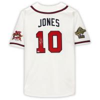 "Chipper Jones Signed Braves Jersey Inscribed ""HOF 18"" (Fanatics Hologram) at PristineAuction.com"
