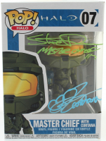 "Steve Downes & Jen Taylor Signed ""Halo"" #07 Funko Pop! Vinyl Figure Inscribed ""Master Chief 117"" & ""Cortana"" (Radtke COA) at PristineAuction.com"