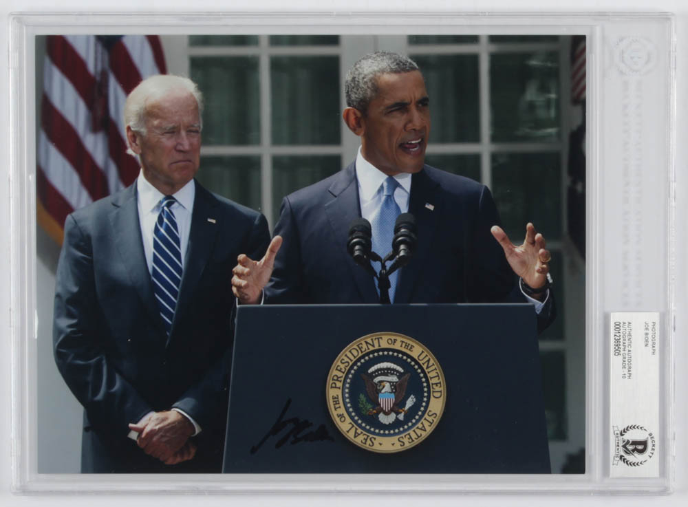 Joe Biden Signed 8x10 Photo (Beckett Authentic) at PristineAuction.com