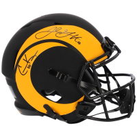 Jared Goff & Cooper Kupp Signed Rams Full-Size Authentic On-Field Eclipse Alternate Speed Helmet (Fanatics Hologram) at PristineAuction.com