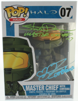 "Steve Downes & Jen Taylor Signed ""Halo"" #07 Funko Pop! Vinyl Figure Inscribed ""Master Chief 117"" & ""Cortana"" (Radtke COA) at PristineAuction.com"