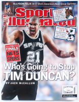 "Tim Duncan Signed 2003 ""Sports Illustrated"" Magazine (JSA COA) at PristineAuction.com"