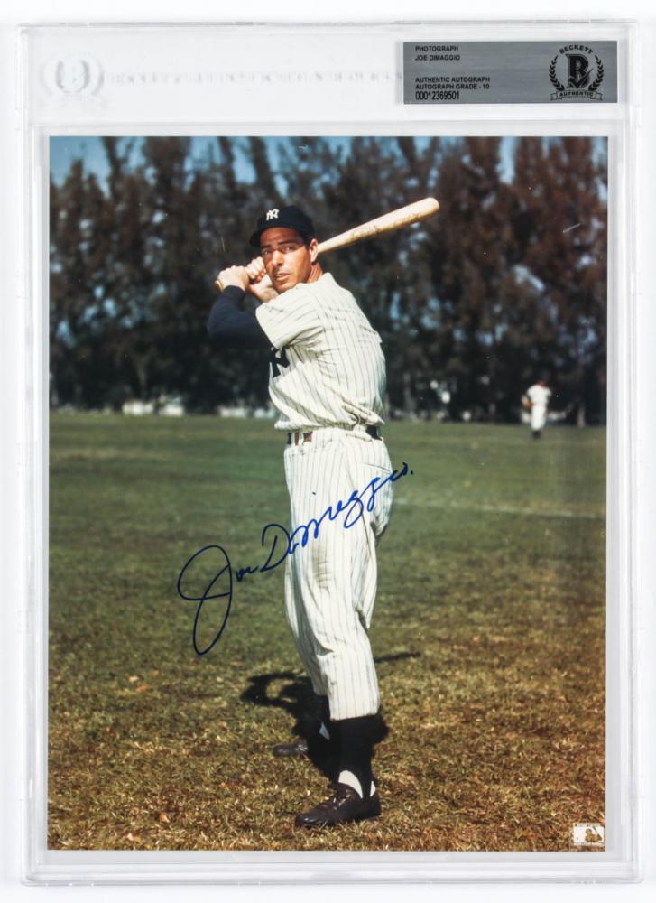 Joe DiMaggio Signed Yankees 8x10 Photo (BGS Encapsulated) at PristineAuction.com