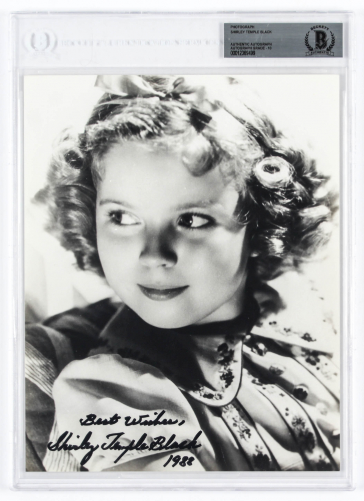 """Shirley Temple Signed 8x10 Photo Inscribed """"Best Wishes"""" & """"1988"""" (BGS Encapsulated) at PristineAuction.com"""