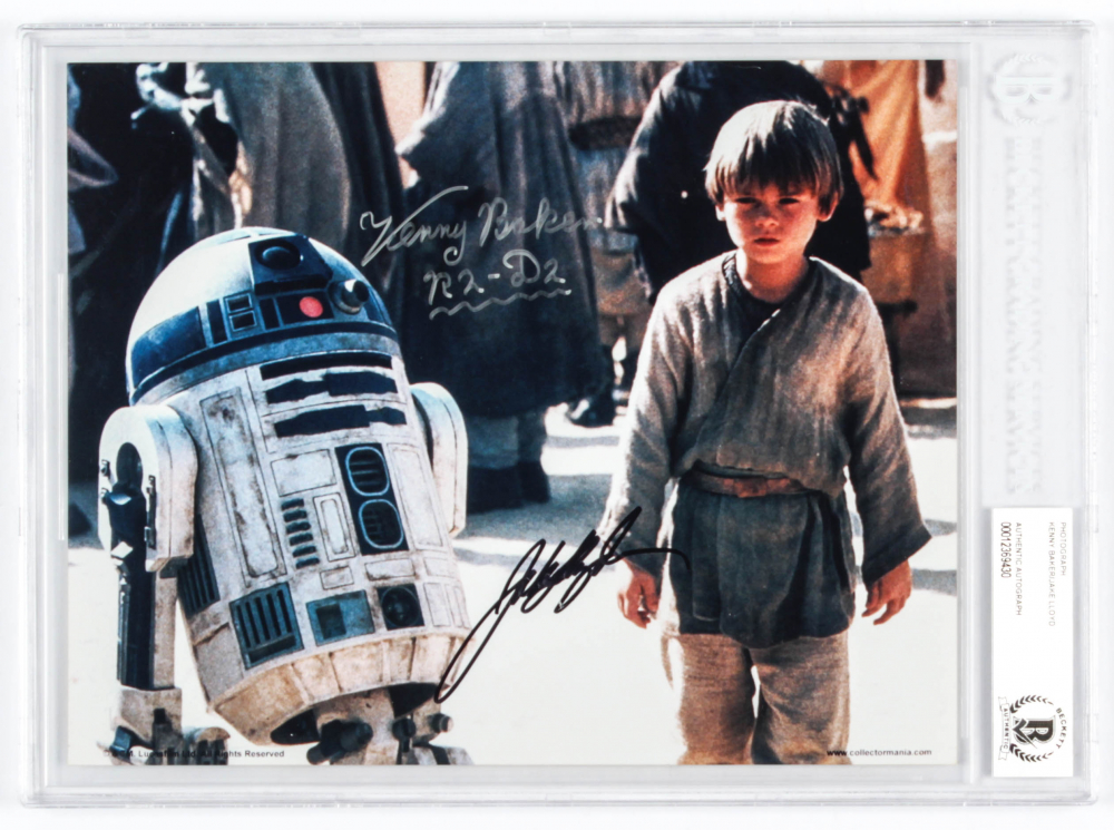"""Jake Lloyd & Kenny Baker Signed Star Wars 8x10 Photo Inscribed """"R2-D2"""" (BGS Encapsulated) at PristineAuction.com"""