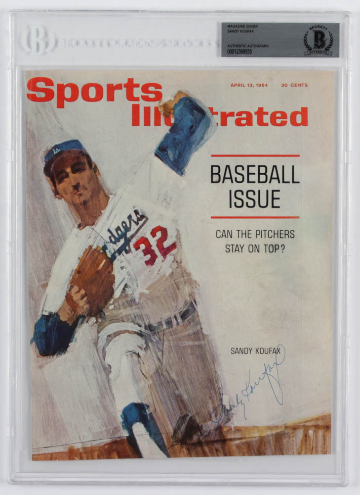 Sandy Koufax Signed Dodgers 8x10 Magazine Cover (BGS Encapsulated) at PristineAuction.com