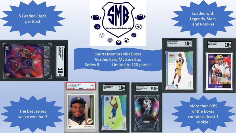 Sports Memorabilia Boxes: 5 Graded Card Mystery Box. Loaded with Stars (Series 5) at PristineAuction.com