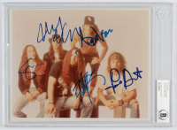 Pearl Jam 8x10 Photo Band-Signed by (5) with Eddie Vedder, Stone Gossard, Mike McCready, Jeff Ament & Dave Abbruzzese (BGS Encapsulated) at PristineAuction.com