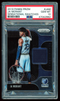 Ja Morant 2019-20 Panini Prizm Sensational Swatches #2 (PSA 10) at PristineAuction.com