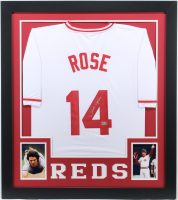 Pete Rose Signed 31x35 Custom Framed Jersey (Fiterman Sports Hologram) at PristineAuction.com