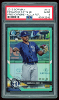 Fernando Tatis Jr. 2018 Bowman Chrome Prospects Aqua Refractors #BCP114 (PSA 9) at PristineAuction.com