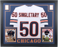 "Mike Singletary Signed 35x43 Custom Framed Jersey Inscribed ""HOF 98"" (Beckett COA) at PristineAuction.com"