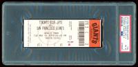 2019 Giants vs. Blue Jays Game Ticket (PSA 8) at PristineAuction.com