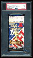 2001 Patriots vs. Steelers AFC Championship Game Ticket Stub (PSA 5) at PristineAuction.com