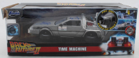 """Michael J. Fox & Christopher Lloyd Signed """"Back to the Future II"""" DeLorean Time Machine 1:24 Scale Die-Cast Car (Beckett COA & Celebrity Authentics Hologram) at PristineAuction.com"""