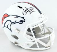 Peyton Manning Signed Broncos Full-Size Matte White Speed Helmet (Fanatics Hologram) at PristineAuction.com