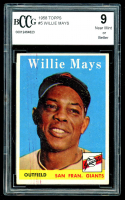 Willie Mays 1958 Topps #5 (BCCG 9) at PristineAuction.com