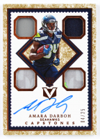 Amara Darboh 2017 Panini Vertex Granite #129 CAP Jersey Autographs RC at PristineAuction.com
