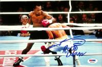 Sugar Ray Leonard & Roberto Duran Signed 8x10 Photo (PSA COA) at PristineAuction.com
