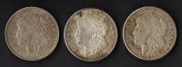 Lot of (3) 1921 Morgan Silver Dollars at PristineAuction.com