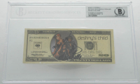 "Beyonce Knowles, Kelly Rowland, & Michelle Williams Signed ""Destiny's Child"" Replica $20 Dollar Bill (BGS Encapsulated) at PristineAuction.com"