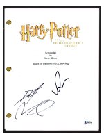"Daniel Radcliffe & Rupert Grint Signed ""Harry Potter and The Philospher's Stone"" Movie Script (Beckett COA) at PristineAuction.com"