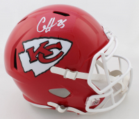 Clyde Edwards-Helaire Signed Chiefs Full-Size Speed Helmet (JSA COA) at PristineAuction.com