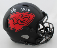 "Clyde Edwards-Helaire Signed Chiefs Full-Size Eclipse Alternate Speed Helmet Inscribed ""Glyde"" (JSA COA) at PristineAuction.com"