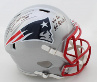 "Rob Ninkovich Signed Patriots Speed Full-Size Helmet Inscribed ""We Are All Patriots!"" (Beckett COA) at PristineAuction.com"