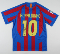 "Ronaldinho Signed FC Barcelona Jersey Inscribed ""R10"" (Beckett COA) at PristineAuction.com"