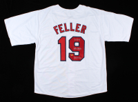 "Bob Feller Signed Jersey Inscribed ""2,581 K's"" & ""266 Wins"" (CAS COA) at PristineAuction.com"