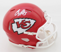Clyde Edwards-Helaire Signed Chiefs Speed Mini Helmet (JSA COA) at PristineAuction.com