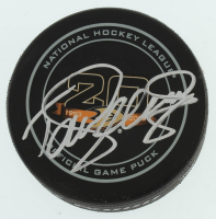 Teemu Selanne Signed Ducks 20th Anniversary Hockey Puck (PSA COA) at PristineAuction.com