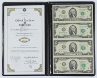 2009 $2 Two Dollar US Currency Notes Display Folder with (4) Bills at PristineAuction.com