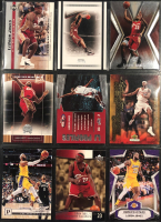 Lot of (9) LeBron James Basketball Cards With 2019-20 Panini Chronicles #689 / Rookies and Stars, 2004 Upper Deck Freshman Season #64, 2004 Upper Deck Freshman Season #56, 2005-06 Hoops LBJ Profiles #LBJ14 at PristineAuction.com