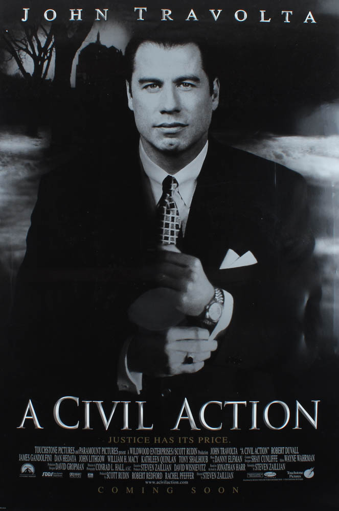 """""""A Civil Action"""" 27x40 Movie Poster at PristineAuction.com"""