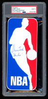 "Jerry West Signed Vintage NBA Sticker Decal Inscribed ""The Logo"" (PSA Encapsulated) at PristineAuction.com"