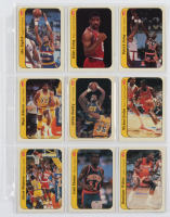 Lot Of (11) 1986-87 Fleer Stickers Basketball Cards With #8 Michael Jordan, #2 Larry Bird, #7 Magic Johnson at PristineAuction.com