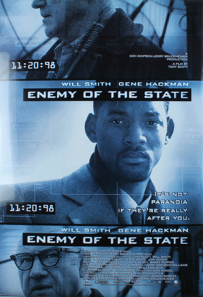 """""""Enemy Of The State"""" 27x40 Movie Poster at PristineAuction.com"""