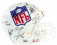 2007 NFL Draft Class Full-Size Authentic Helmet Team Signed by (30) with Adrian Peterson, Calvin Johnson, Marshawn Lynch, Greg Olsen, Patrick Willis, Joe Thomas, Dwayne Bowe, Brady Quinn, Troy Smith, Ted Ginn Jr. (JSA LOA) at PristineAuction.com