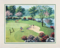 "Annika Sorenstam Signed ""Out of the Sand Trap"" 16x20 Lithograph (JSA ALOA) at PristineAuction.com"
