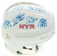 Rangers Mini Helmet Team Signed by (14) with Ryan Callahan, Ryan McDonagh, Dan Girardi, Michael Del Zotto, Martin Biron, Stu Bickel, Brian Boyle (YSMS COA) at PristineAuction.com