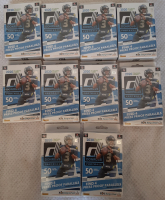 Lot of (10) 2020 Donruss Panini NFL Football Hanger Boxes with (50) Cards Each at PristineAuction.com