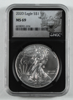 2020 American Silver Eagle $1 One Dollar Coin (NGC MS69) at PristineAuction.com