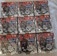 Lot of (9) 2019-20 Panini Mosaic Basketball Mega Boxes with (10) Packs Each at PristineAuction.com